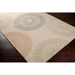 Hand-hooked Tan Boyer Indoor/Outdoor Geometric Rug (9' x 12')