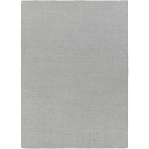 Hand-crafted Solid Grey/Blue Coito Wool Area Rug - 8' X 11'