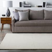 Hand-crafted Solid Beige Casual Climaco Wool Area Rug - 8' x 8'