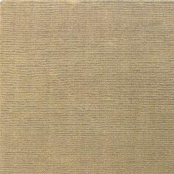 Hand-crafted Solid Pale Gold Casual Cnido Wool Rug (8' x 11') - Thumbnail 1