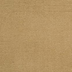 Hand-crafted Solid Pale Gold Casual Cnido Wool Rug (8' x 11') - Thumbnail 2