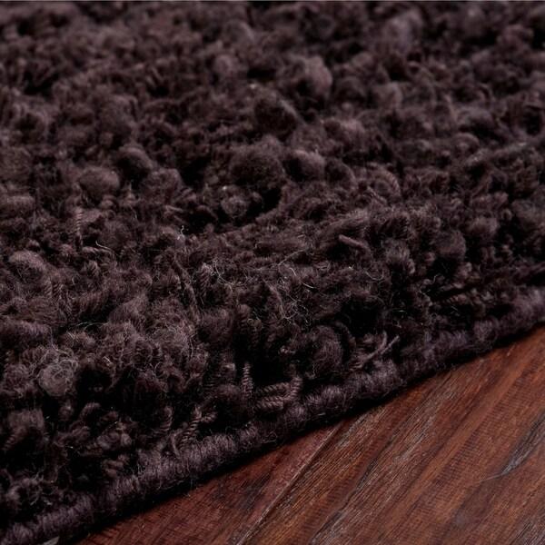 Shop Hand-woven Metropoli Black New Zealand Wool Plush