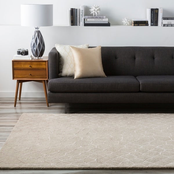 Hand-tufted Contemporary Grey Gephy New Zealand Wool Abstract Area Rug - 8' x 11'