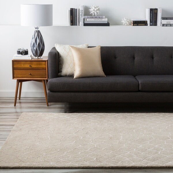 Hand-tufted Contemporary Grey Gephy New Zealand Wool Abstract Area Rug - 5' x 8'