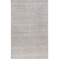 Hand-tufted Contemporary Grey Gephy New Zealand Wool Abstract Area Rug (3'3 x 5'3) - 3'3 x 5'3 - Thumbnail 0