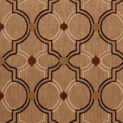 ... Woven Brown Allusion Indoor/Outdoor Moroccan Lattice Rug (3u00279 X 5u0027