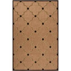 Woven Tan Remington Indoor/Outdoor Moroccan Lattice Rug (3'9 x 5'8)