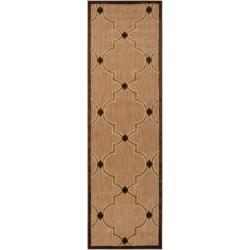 Woven Tan Remington Indoor/Outdoor Moroccan Lattice Rug (2'6 x 7'10)
