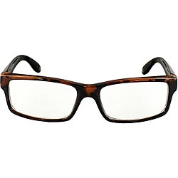 Unisex 470 Brown Leopard Rectangle Frame Fashion Sunglasses with Clear Lens