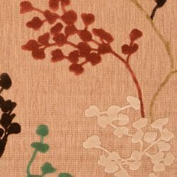 Woven Brown Zynx Indoor/Outdoor Floral Rug (3'9 x 5'8) - Thumbnail 2