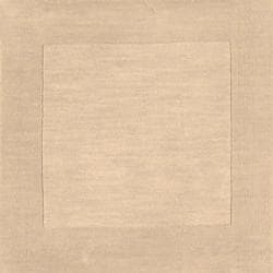 Hand-crafted Beige Tone-On-Tone Bordered Disposo Wool Rug (7'6 x 9'6)