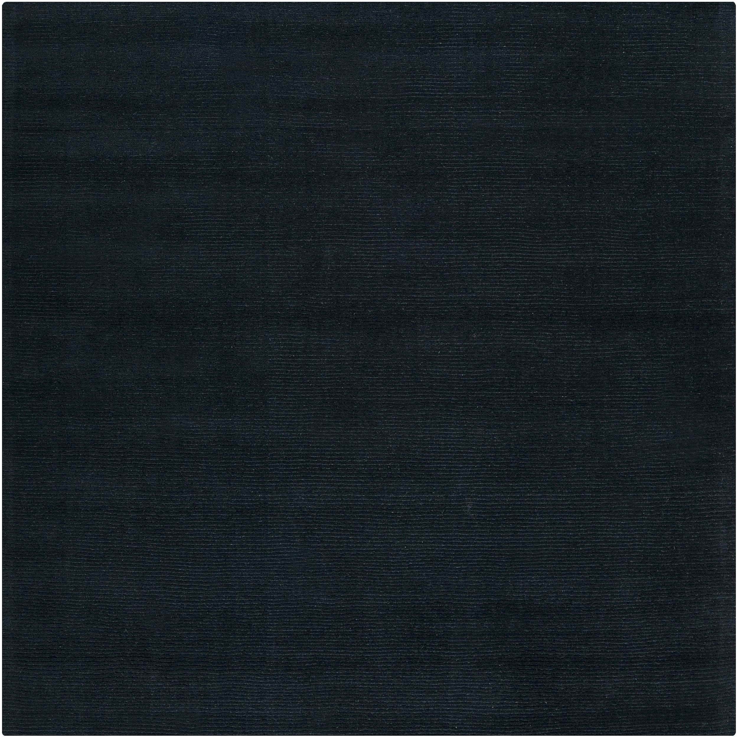 Hand Crafted Navy Blue Solid Causal Doxo Wool Rug 8