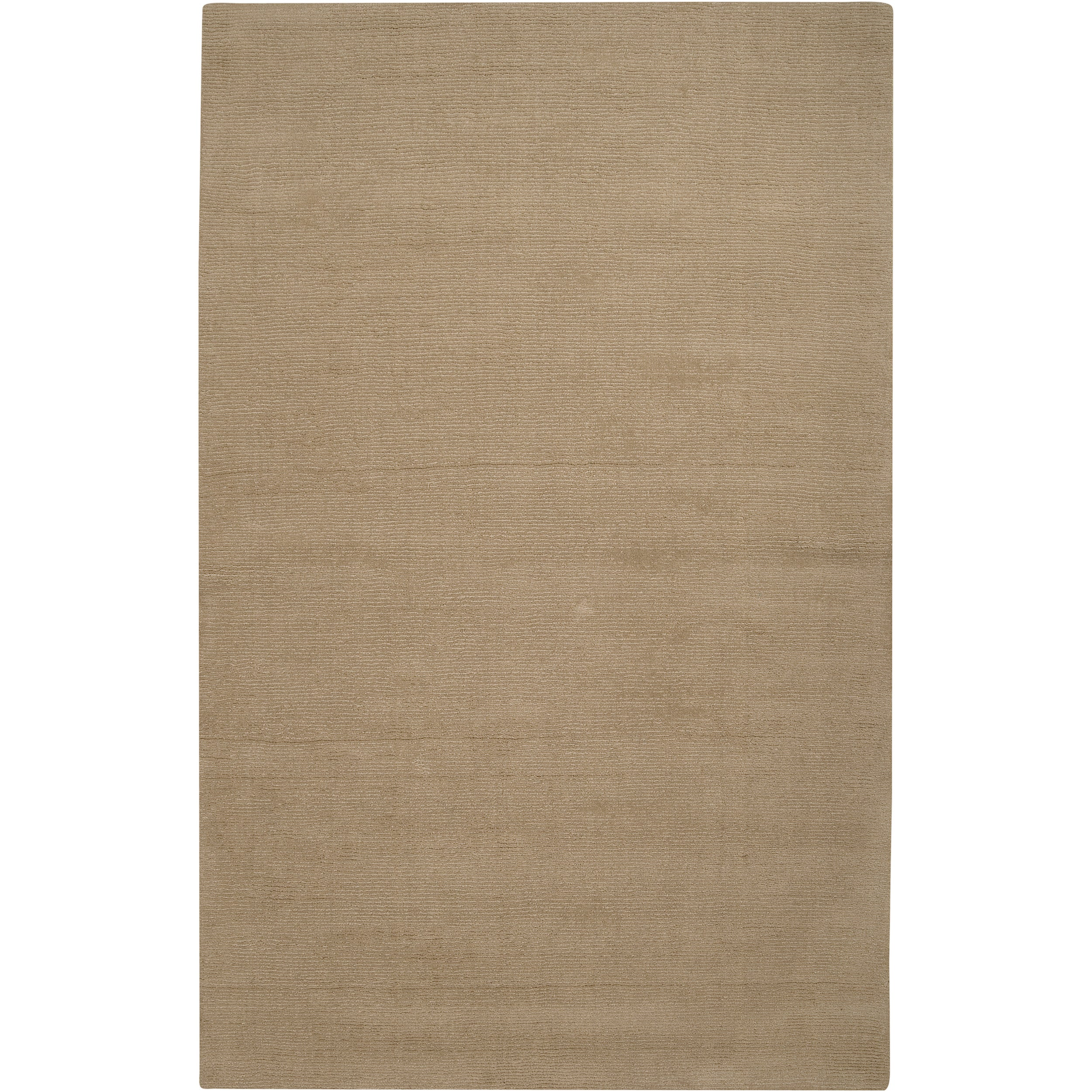Hand-crafted Beige Solid Casual Dipson Wool Rug (6' x 9')