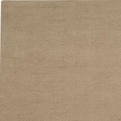Hand-crafted Beige Solid Casual Dipson Wool Rug (6' x 9') - Thumbnail 1