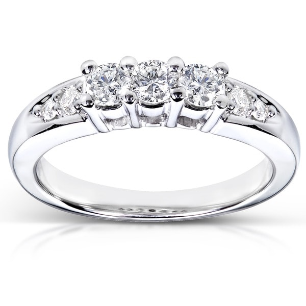 Annello by Kobelli 14k White Gold 3/8ct TDW Diamond Ring (G-H, I1-I2)