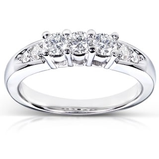 Annello by Kobelli 14k White Gold 3/8ct TDW Diamond Ring