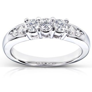 Annello 14k White Gold 3/8ct TDW Diamond Ring (G-H, I1-I2)