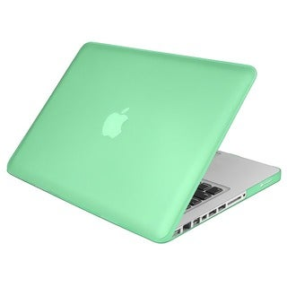 Green Snap-on Rubber Coated Case for Apple MacBook Pro 13-inch