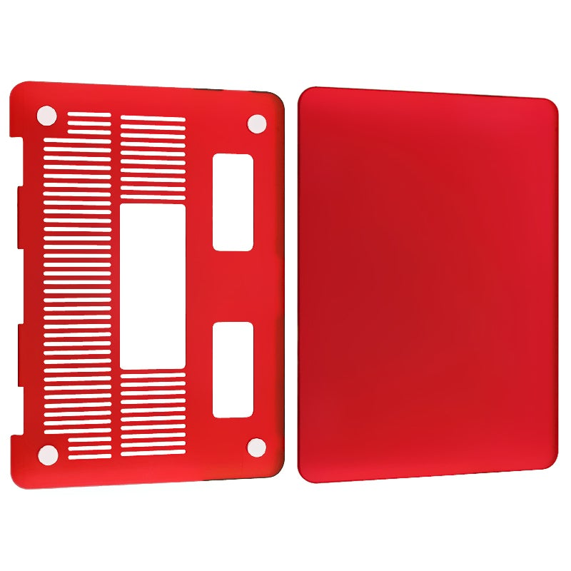 INSTEN Red Snap-on Rubber Coated Laptop Case Cover for Apple MacBook Pro 13-inch