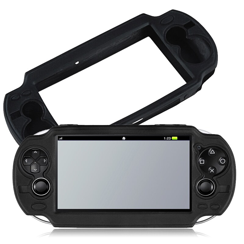 INSTEN Black Soft Silicone Skin Case Cover for Sony PlayStation Vita