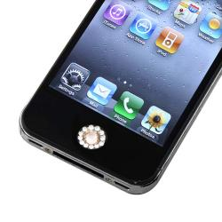 Orange Diamond Home Button Sticker for Apple iPhone/ iPad/ iPod Touch