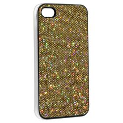 Gold Bling Rear Snap-on Case for Apple iPhone 4/ 4S - Thumbnail 1