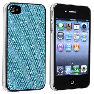 Blue Bling Rear Snap-on Case for Apple iPhone 4/ 4S