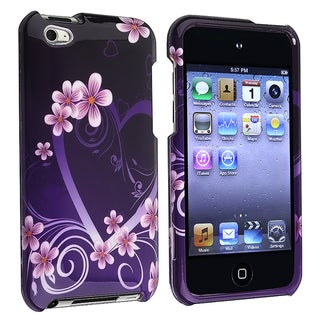 Dark Purple Heart Snap-on Case for Apple iPod Touch Generation 4