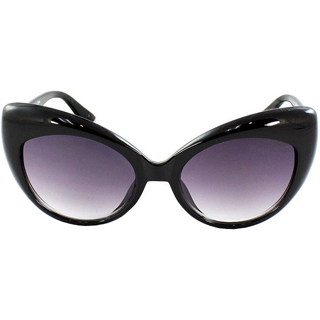Women's Black Cat Eye Sunglasses - Thumbnail 0