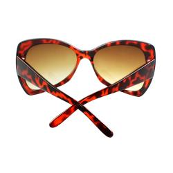 Women's Brown Butterfly Sunglasses - Thumbnail 1