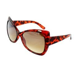 Women's Brown Butterfly Sunglasses - Thumbnail 2