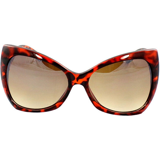 Women's Brown Butterfly Sunglasses - Thumbnail 0