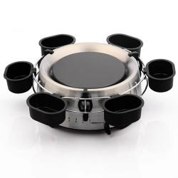 E-Ware Electric Stainless Steel Fondue Pot Set - Thumbnail 1