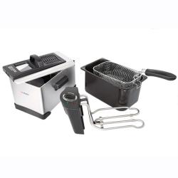 E-Ware Stainless Steel Detachable Oil Tank 13-cup Deep Fryer