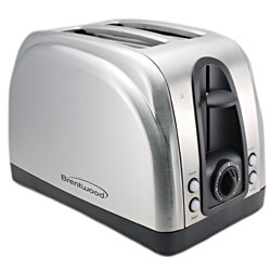 Brentwood TS-225S Stainless Steel 2-slice Toaster