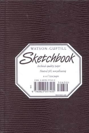 Watson-Guptill Sketchbook/Burgundy Small Pellaq (Hardcover)