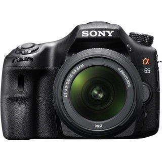 Sony Alpha SLT-A65 24.3MP Black DSLR Digital Camera with 18-55mm Lens