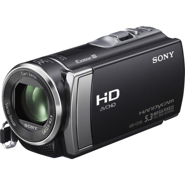 "Sony Handycam HDR-CX190 Digital Camcorder - 2.7"" LCD - Exmor R CMOS -"