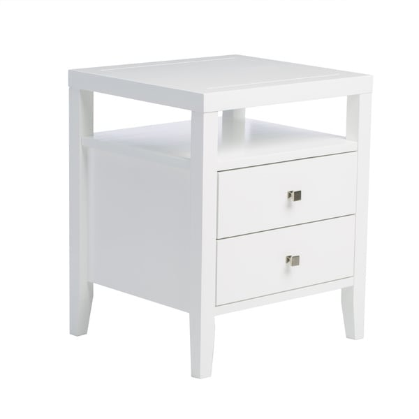 Aristo White Two-drawer Nightstand