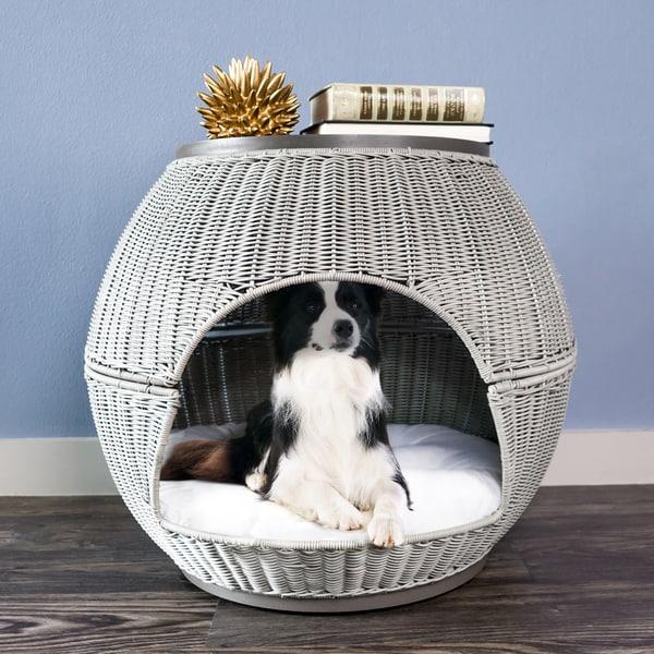 Hand-woven Deluxe Igloo Pet Bed