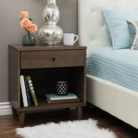 Strick & Bolton Vilas Light Charcoal Nightstand