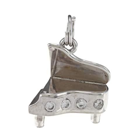 La Preciosa Sterling Silver CZ Piano Charm