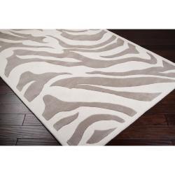 Hand-tufted Zebra Animal Print Ihypallop Wool Rug (3'3 x 5'3) - Thumbnail 1