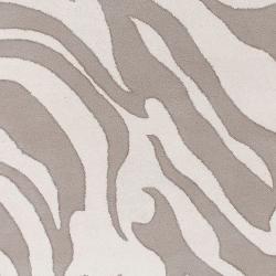 Hand-tufted Zebra Animal Print Ihypallop Wool Rug (3'3 x 5'3) - Thumbnail 2