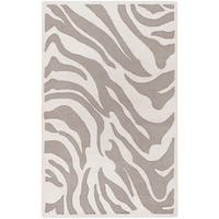 Hand-tufted Zebra Animal Print Ihypallop Wool Area Rug - 3'3 x 5'3