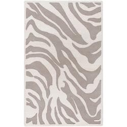 Hand-tufted Zebra Animal Print Ihypallop Wool Rug (5' x 8')