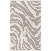 Hand-tufted Zebra Animal Print Ihypallop Wool Area Rug - 5' x 8'