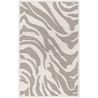 Hand-tufted Zebra Animal Print Ihypallop Wool Area Rug - 5' x 8'