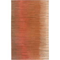 Hand-tufted Brown Kaino New Zealand Wool Rug (3'3 x 5'3)