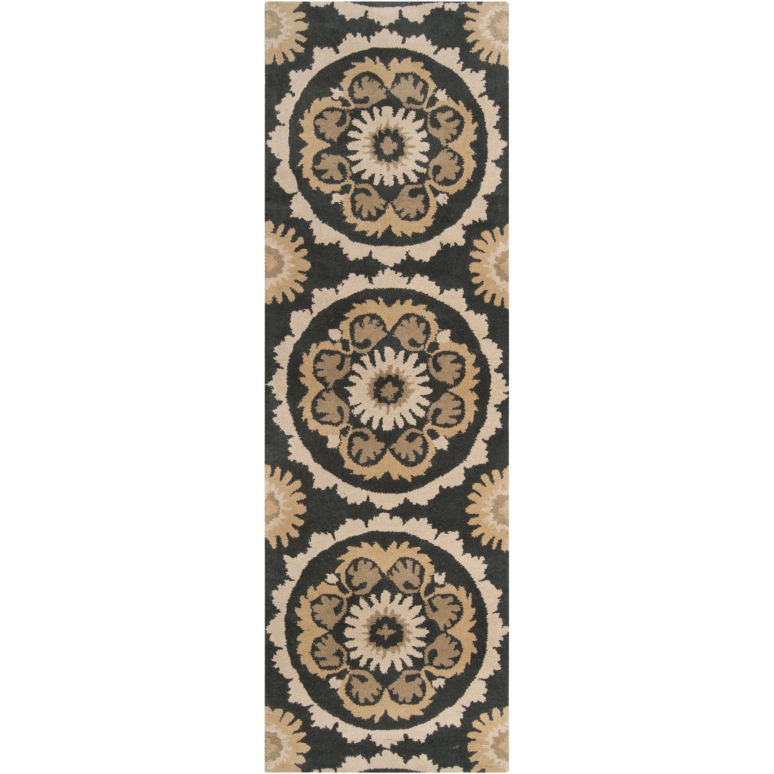Hand-tufted Grey Kategelo New Zealand Wool Rug (2'6 x 8')